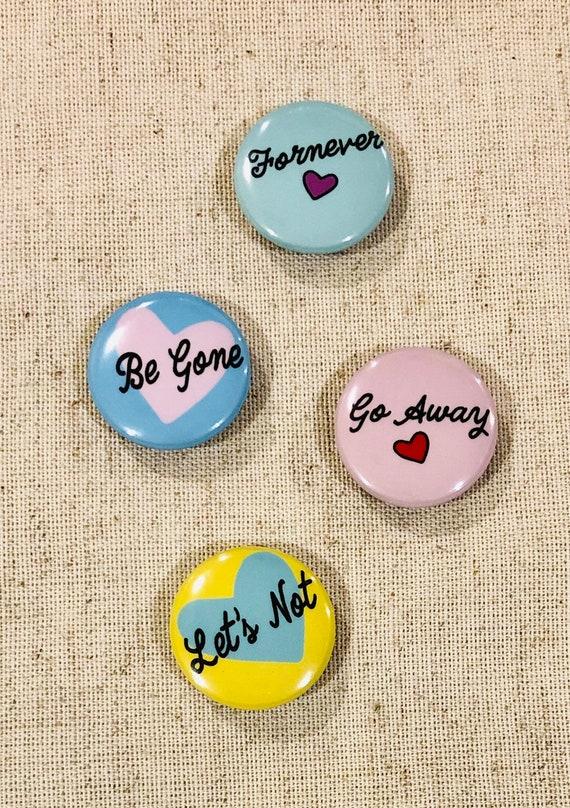 Anti-Valentine Magnet Set | Funny Valentine's Day Gift | Set of 4 Mini Magnets