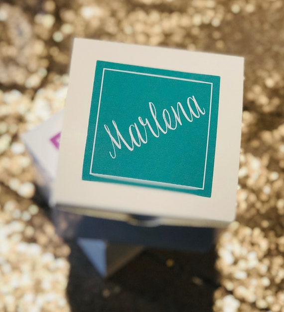 Personalized Gift Box | Bridesmaid Proposal Box | Terracotta, Lavender, or Teal Glossy | Custom Message Inside