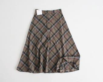 birch plaid skirt | 70s plaid skirt | plaid wool skirt