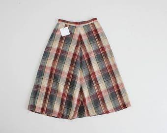 christmas plaid skirt | 70 wool plaid skirt | red and green plaid skirt