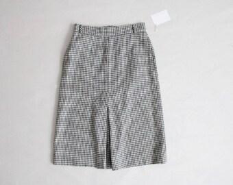 grey gingham skirt | 70s skirt | wool plaid skirt