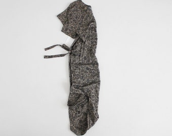 90s floral dress | long floral dress | black and grey floral dress