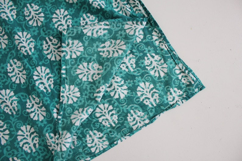 indian tunic teal tunic dress floral cotton tunic