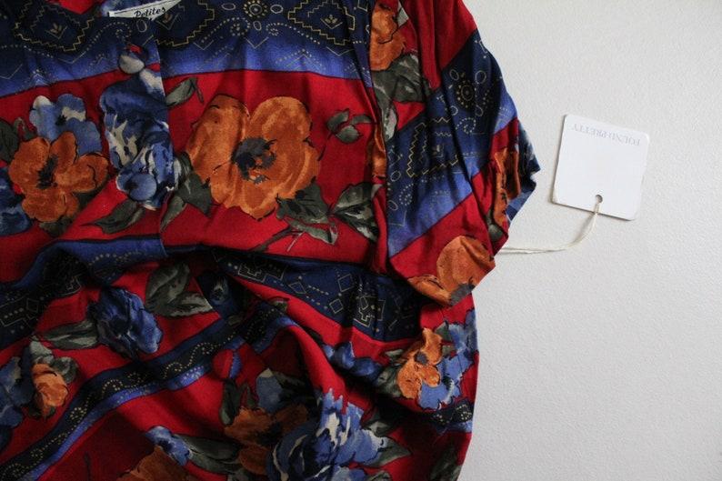 earth tone floral print dark floral blouse floral crop top