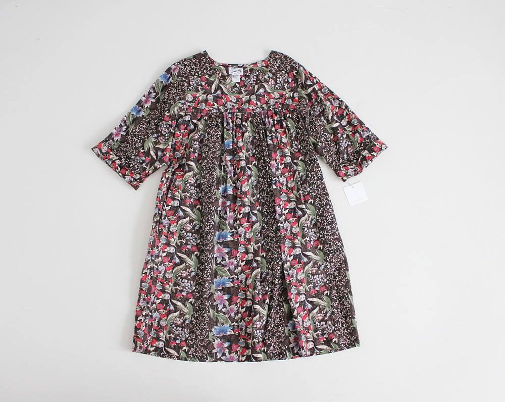 floral moo moo dress wildflower dress black floral tent | Etsy