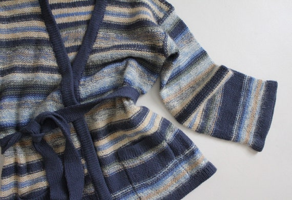 striped mohair sweater | vintage 1970s sweater | … - image 4