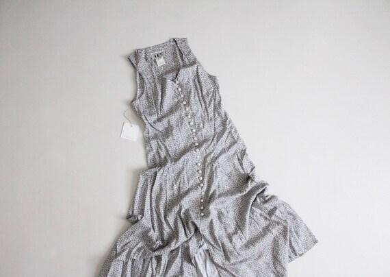 cloudy blue floral dress | 90s rayon dress | long