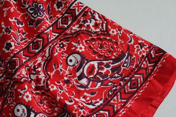 red bird skirt | vintage 1960's skirt | bird patt… - image 5