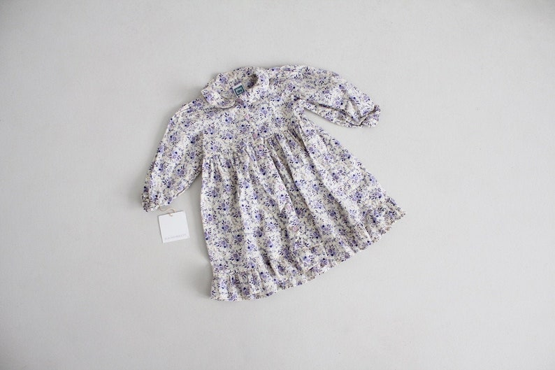 girls 12-18 months dress purple rose dress purple floral dress