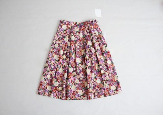 asian floral skirt   party skirt   mandarin skirt