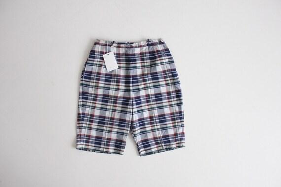 1950s shorts | plaid shorts | 50s bermuda shorts
