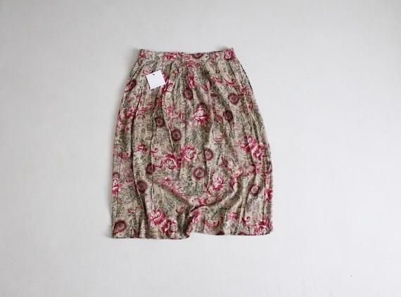 pink rose skirt | floral midi skirt | romantic flo