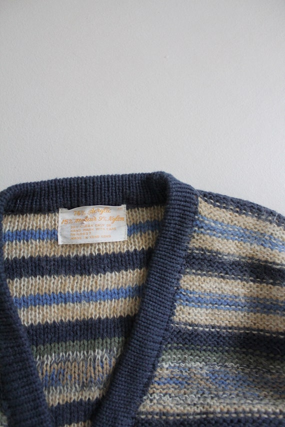 striped mohair sweater | vintage 1970s sweater | … - image 5