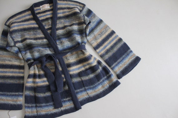 striped mohair sweater | vintage 1970s sweater | … - image 2