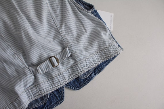 striped denim vest   cropped denim vest   denim c… - image 5