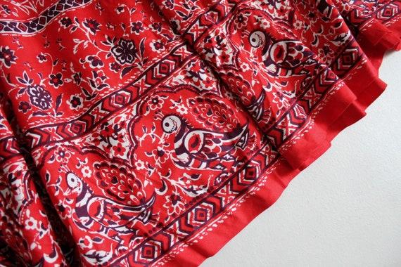 red bird skirt | vintage 1960's skirt | bird patt… - image 4