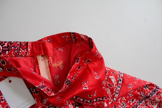 red bird skirt | vintage 1960's skirt | bird patt… - image 6