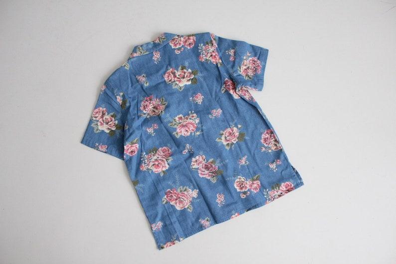 floral denim blouse denim floral shirt