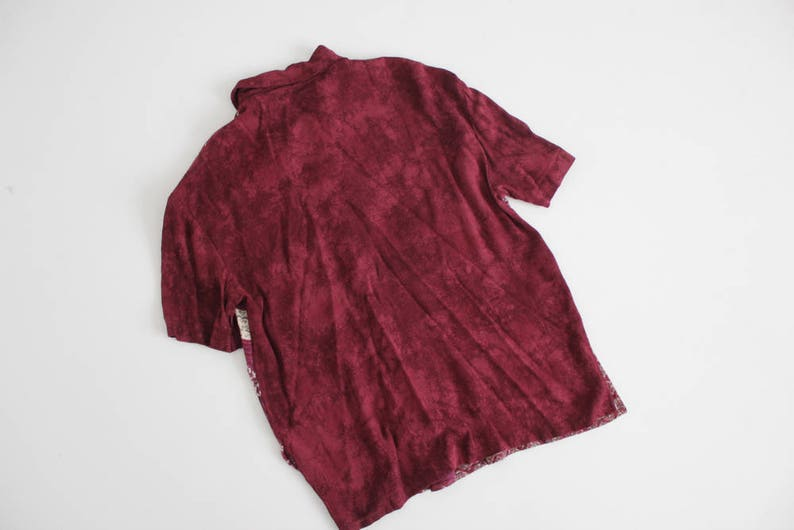 ethnic floral blouse 90s blouse maroon floral shirt