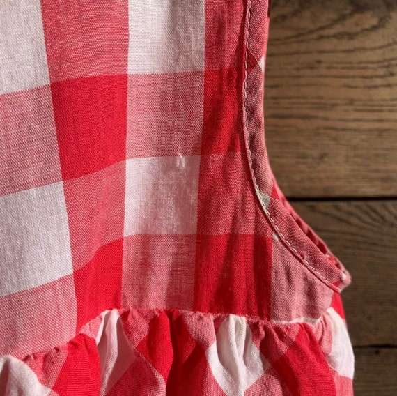 Vintage Gingham Ruffle Crop Top - image 7