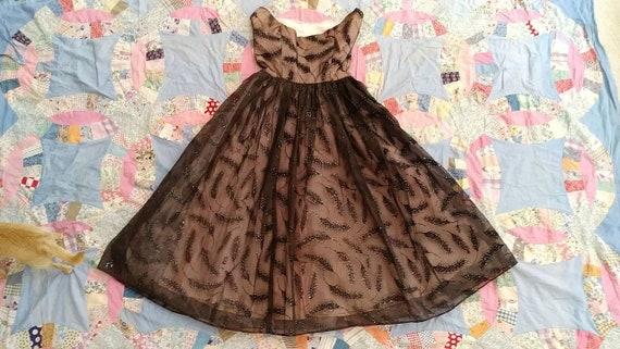 50s wheat rainbow glitter prom dress size xs - image 8