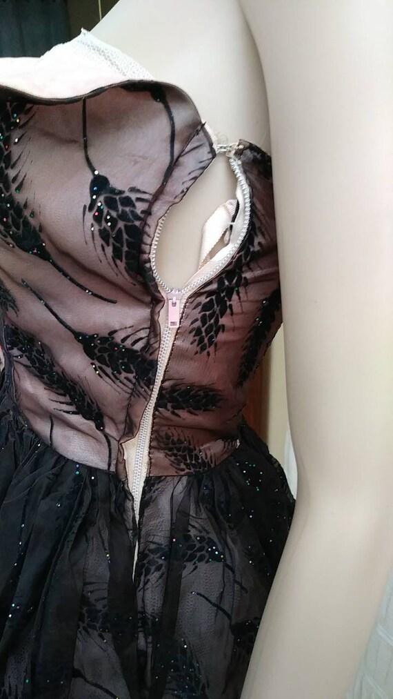 50s wheat rainbow glitter prom dress size xs - image 7