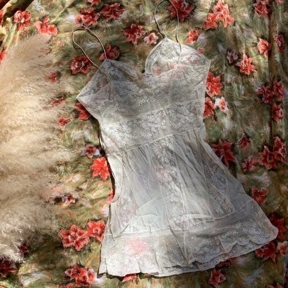 Antique Lace & Silk Tank - image 4