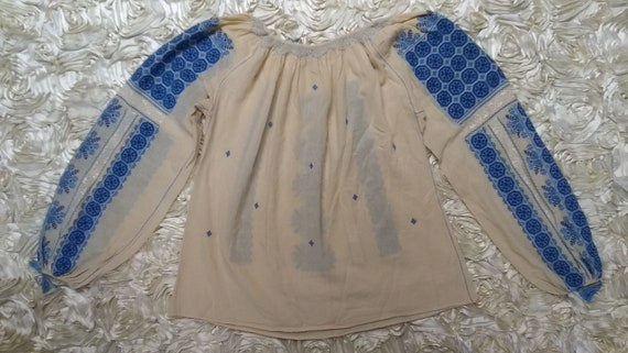 Vintage Hungarian Embroidered Blouse Size S - image 8