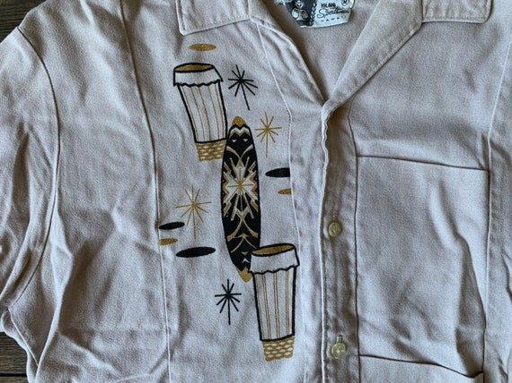 50s IOLANI Hawaiian Tiki Shirt Size S - image 6