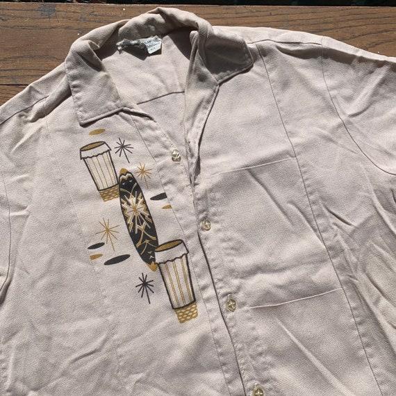 50s IOLANI Hawaiian Tiki Shirt Size S - image 1