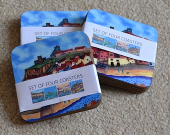 Four Art Coasters by Bridget Wilkinson - Set 1