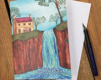 Art Card - Midge Hall, Falling Foss