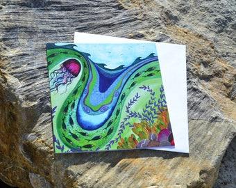 Art Card - A Dip in the Ocean