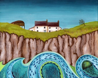 The Rising Swell - Limited Edition Fine Art Print from an Original Artwork by Bridget Wilkinson