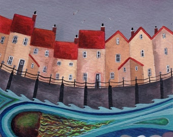 Caught in the Current - Fine Art Print from an Original Artwork by Bridget Wilkinson