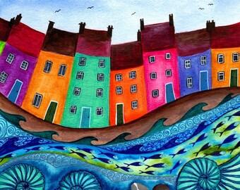 Bobbing Along - Fine Art Print from an Original Artwork by Bridget Wilkinson