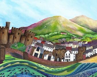 Conwy - Limited Edition Fine Art Print from an Original Artwork by Bridget Wilkinson
