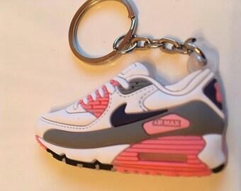 ce4f35f141b80f Nike Air max key fob sneaker keychain white-pink Pink
