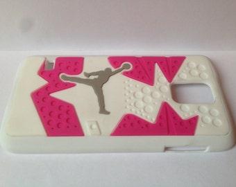 Jordan Phone Case Samsung S5 White Pink Phone Case NBA