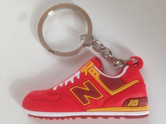 0149043963957 New balance Keychain ML 574 red-yellow keychain
