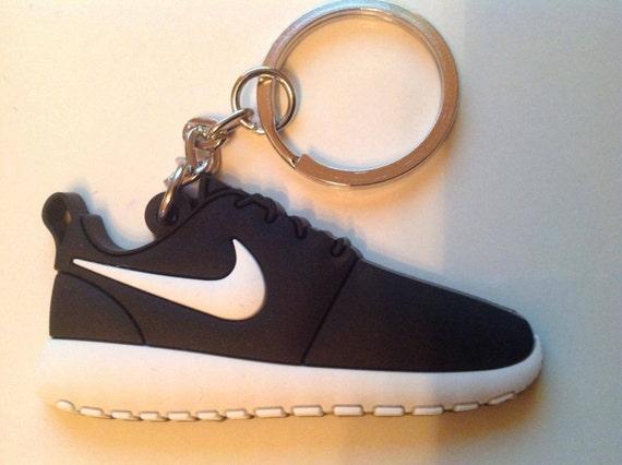 super popular 62e91 e3db2 Nike Roshe Run Keyring Keychain Black Black