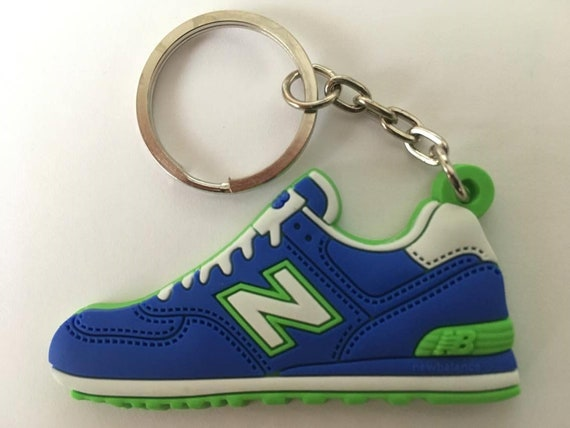 size 40 8c650 84113 New Balance Keyring ML 574 Blue-Green Keychain