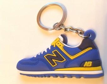 New Balance key ring ml 574 blue-yellow keychain