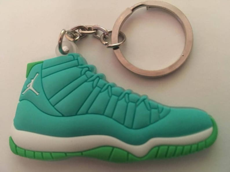 new product 58be9 62330 Air Jordan 11 Keychain turquoise sneakers Keychain XI turquoise
