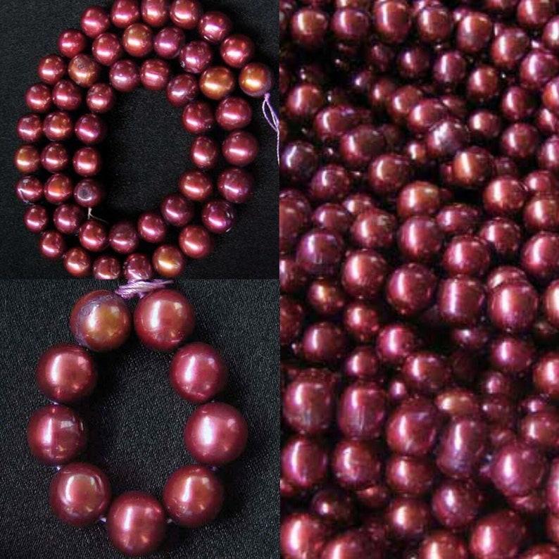 9 Golden Raspberry 7-9.5x7mm FW Pearls 008315