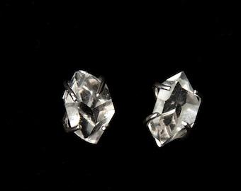 Lovely Natural Herkimer Diamond Stud Earrings