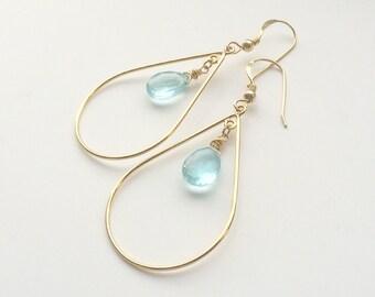Topaz 14k Goldfill Gold earrings, earrings with topaz, earrings with topaz, earrings with blue topaz