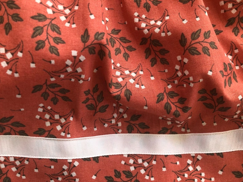 9-12 months Floral Tank Dress with Full Skirt in Coral /& White