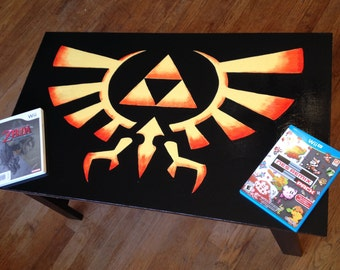 Custom Painted Legend of Zelda Coffee Table