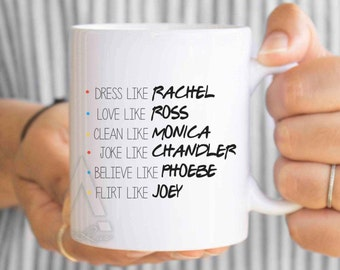 friends tv show mug christmas gifts dorm decor friends best friend mugs phobe rachel monica best friend birthday gifts mu294